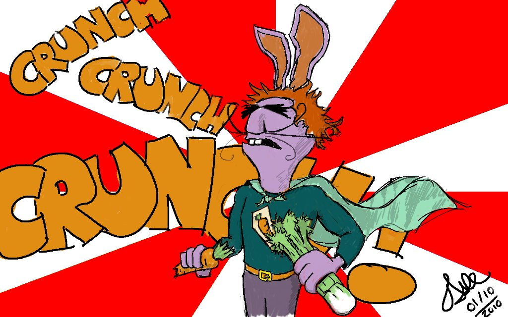 "Captain Vegetable: ""CRUNCH CRUNCH CRUNCH!"""
