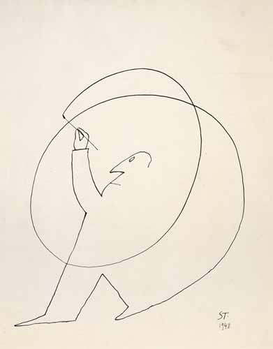 """Untitled"", 1948, Saul Steinberg"
