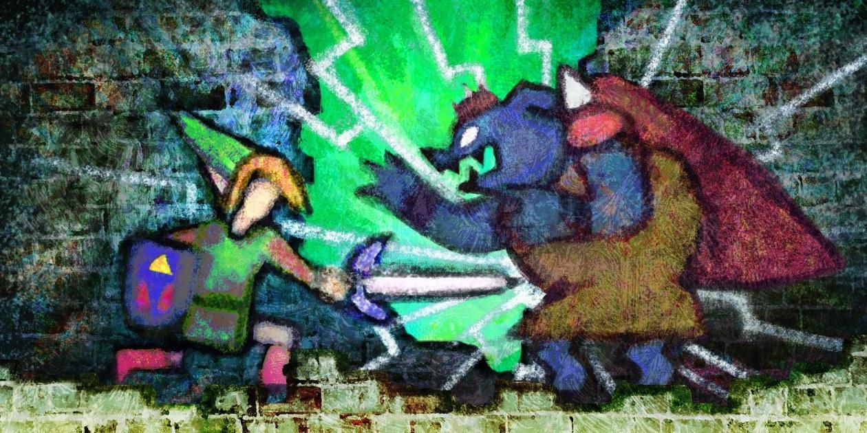 Legend-of-Zelda-Link-Between-Worlds-Painting